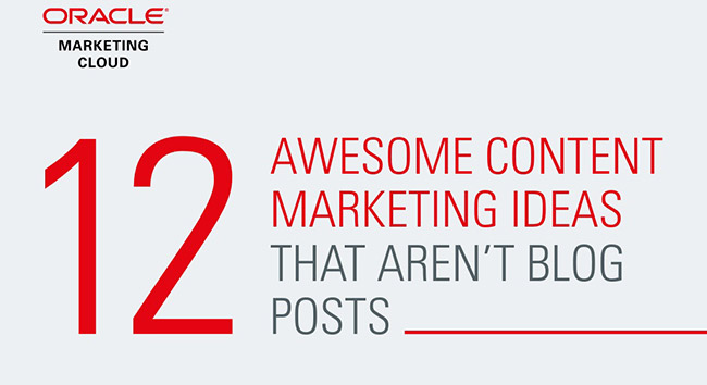 12 Creative Content Marketing Ideas That Don't Require a Blog!