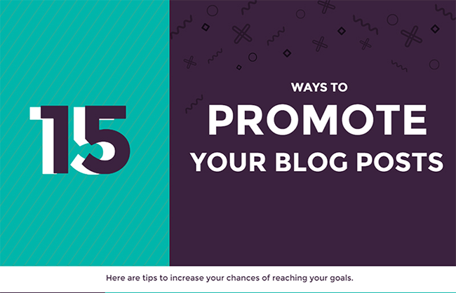 15 Ways to Promote Your Blog Posts