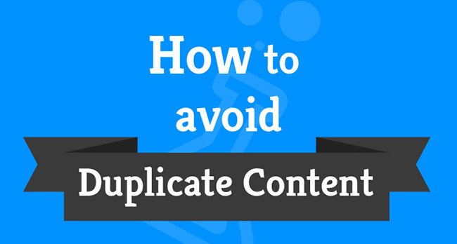 How to avoid duplicate content?