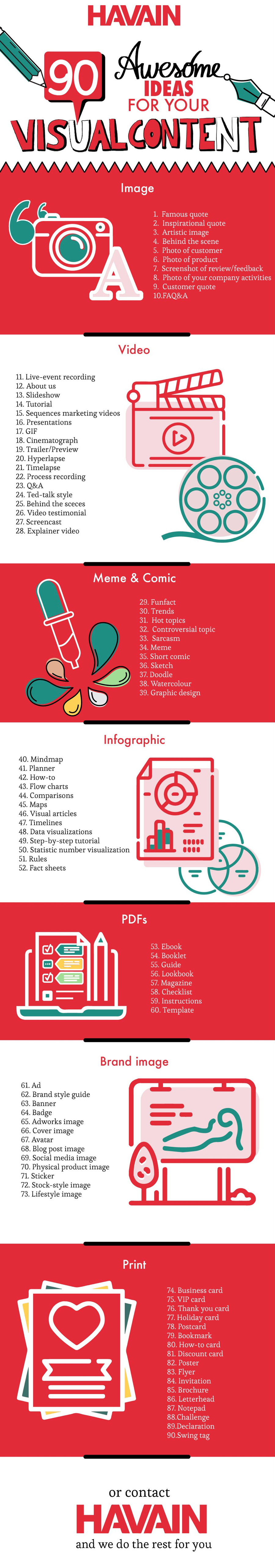 90 awesome ideas for visual content marketing