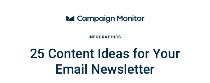 25 Content Ideas for Email Newsletters